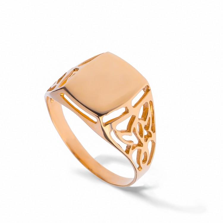 Мужское кольцо-печатка из золота - АскидА - Официальный сайт в ... c78bac9f7a8