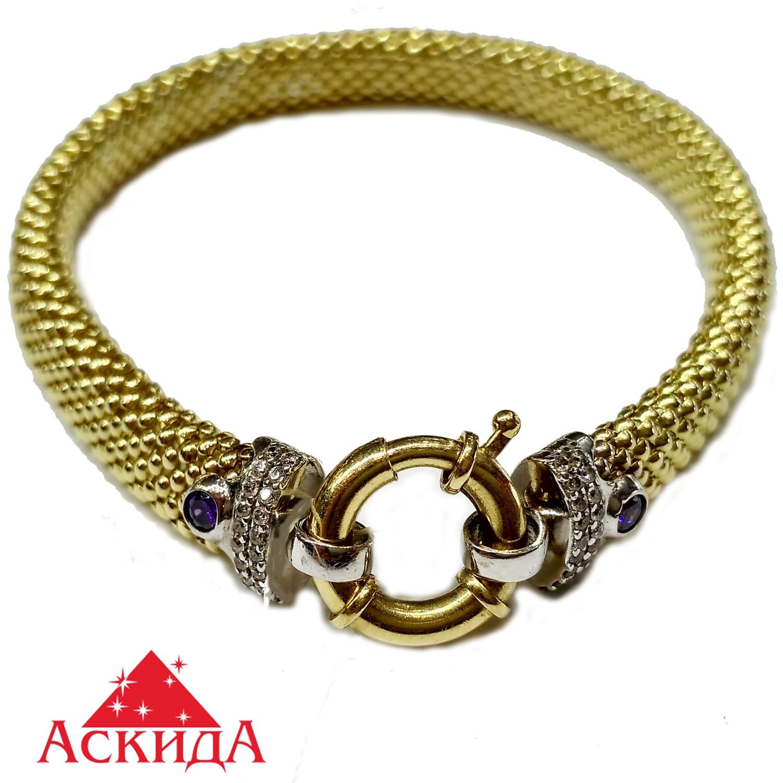 Браслет женский золото 585 проба - АскидА - Официальный сайт в ... cd2a554c256