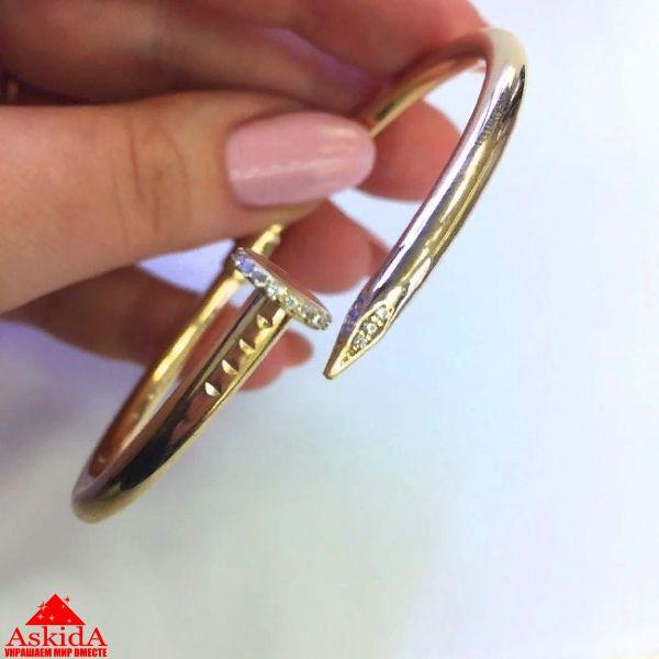 Браслет Картье гвоздь из золота 585 пробы (средний) - АскидА ... 4d3de8b6837