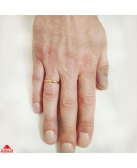 Гладкое обручальное кольцо 2 мм из розового золота - АскидА ... 75785aba826
