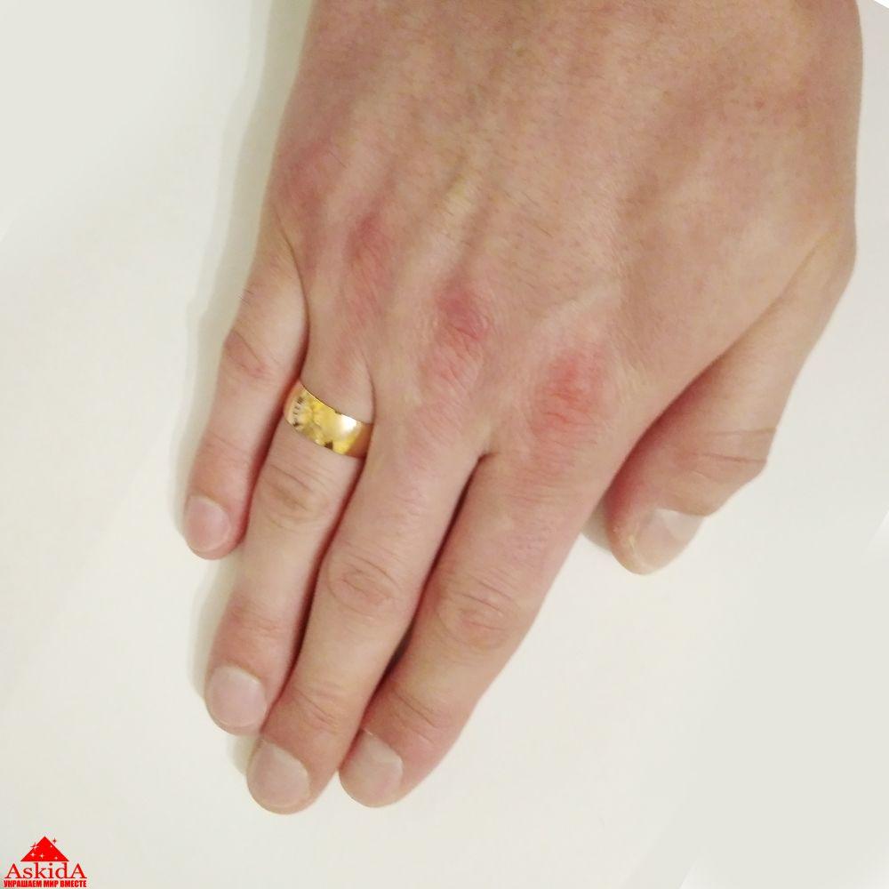 Гладкое обручальное кольцо 6 мм из лимонного золота - АскидА ... de880207110