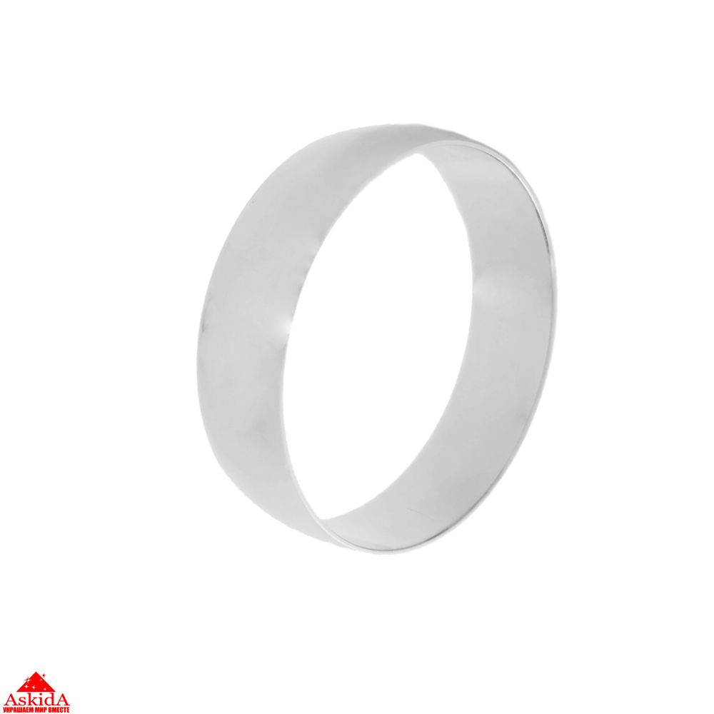 Гладкое обручальное кольцо 6 мм из белого золота - АскидА ... 2eb112d0cf1