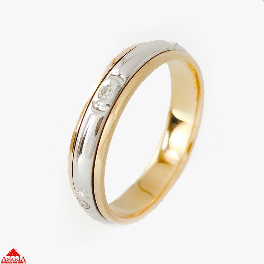 Обручальное кольцо с бриллиантами - 970183681 - АскидА - Официальный ... eefe2c99c86