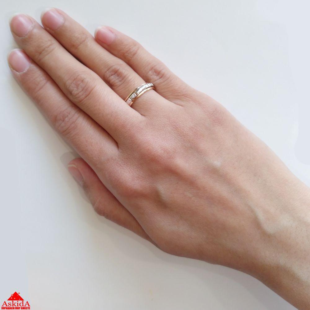 Обручальное кольцо с бриллиантами - 970183681 - АскидА - Официальный ... b94de896013